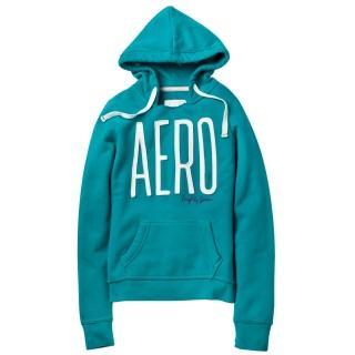 【現貨Aeropostale】AERO 經典款 連帽口袋上衣(綠色)