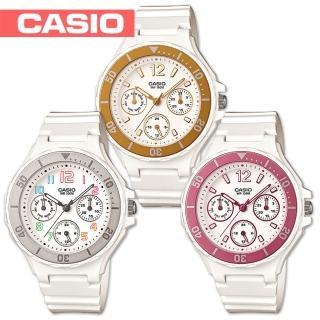 【CASIO 卡西歐】潛水風格-繽紛糖果色系甜心女錶(LRW-250H)