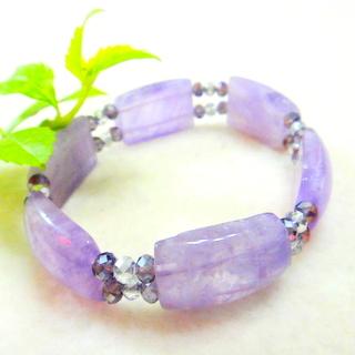 【JIN YANG】紫醉晶迷紫玉髓晶鑽手排