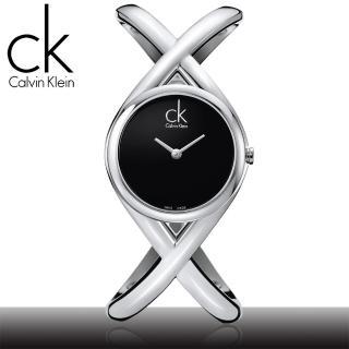 【瑞士 CK手錶 Calvin Klein】交叉造型手鐲式女錶(K2L23102/K2L24102)
