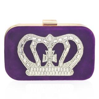 【Dennibella 丹妮貝拉】公主珠寶盒 精緻水鑽 側背三用晚宴包(浪漫紫)