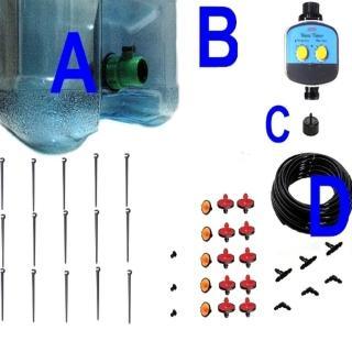 【灑水達人】10公升水桶式單孔定時滴灌套裝系列15個滴灌