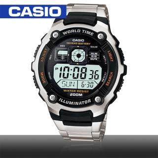 【CASIO 卡西歐】模擬指針數位電子運動錶(AE-2000WD)