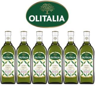 【Olitalia奧利塔】超值特級冷壓橄欖油禮盒組(1000mlx6瓶)