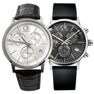 【瑞士 CK手錶 Calvin Klein】時尚休閒三眼造型款(K7627107-K7627120)