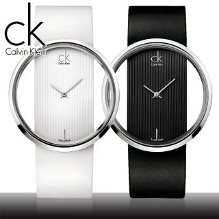 【瑞士 CK手錶 Calvin Klein】鏤空玻璃設計時尚女錶(K9423101-K9423107)
