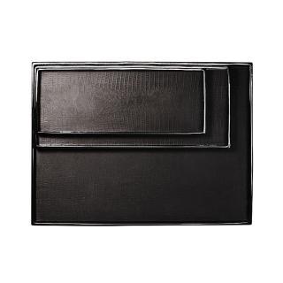 【Finara 費納拉-精品家飾餐廚生活擺件】安朵珍珠魚紋防水精品收納盤(黑色)