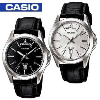 【CASIO 卡西歐】送禮首選-紳士石英男錶-附錶盒(MTP-1370L)