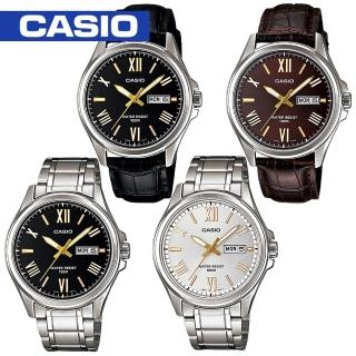【CASIO 卡西歐】日系王者風範休閒紳士腕錶(MTP-1377D_MTP-1377L)