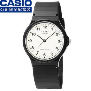 【CASIO】日系卡西歐薄型石英錶-白(MQ-24-7B)