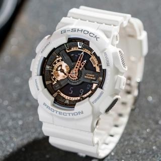【CASIO 卡西歐】G-SHOCK 重機狂野潮流概念錶(白x金-GA-110RG-7ADR)