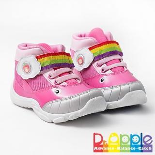 【Dr. Apple 機能童鞋】可愛小鯨魚造型透氣童鞋(粉)