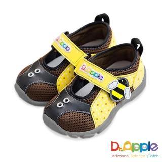 【Dr. Apple 機能童鞋】MIT超輕量可愛昆蟲造型童鞋(黃)