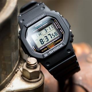 【CASIO 卡西歐】G-SHOCK 多功能經典潮流錶(黑-DW-5600E-1VDF)
