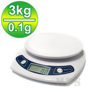 【廚房烘培專用】液晶電子秤/料理秤/磅秤(3公斤/0.1公克)