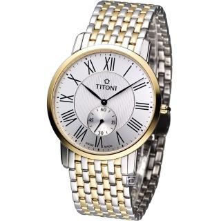 【TITONI 梅花錶】Slenderline 優雅情人時尚紳士錶(TQ52917SY-375)