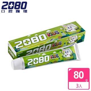 ~韓國2080~強齒健齦兒童牙膏^(蘋果80gX3入^)
