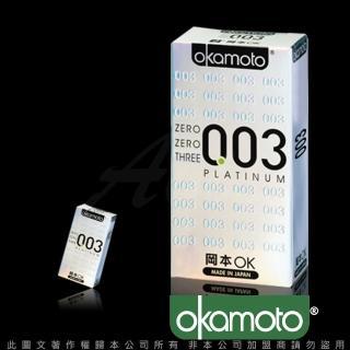【岡本003】PLATINUM 極薄保險套(6入裝 白金)