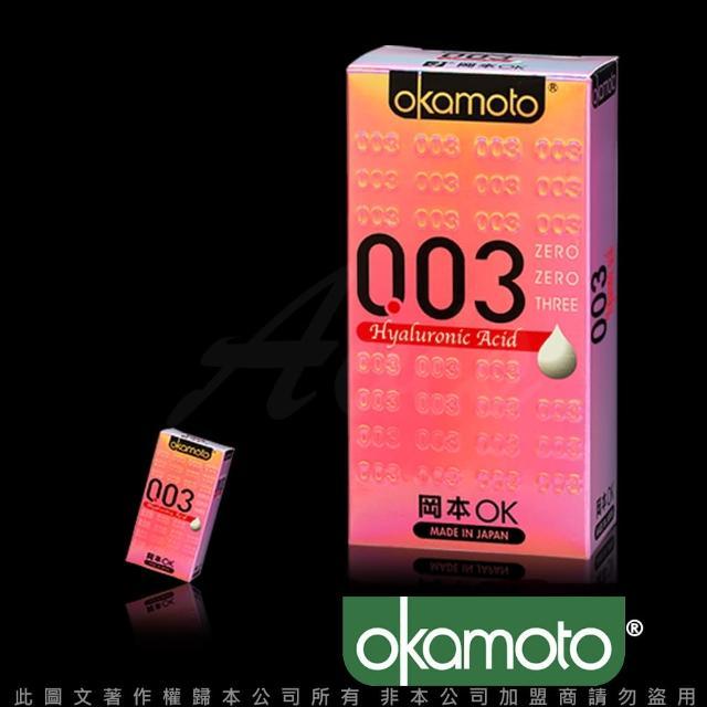 【岡本003】HA 玻尿酸極薄保險套(6入裝)