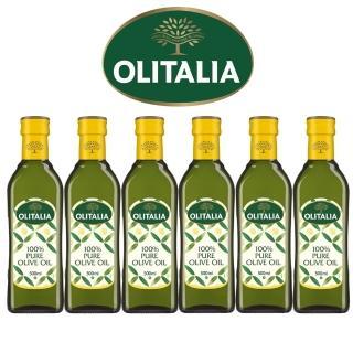 【Olitalia奧利塔】純橄欖油禮盒組(500mlx6瓶)