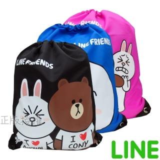 【LINE FRIENDS】㊣版授權 俏麗束口後背袋(四款)