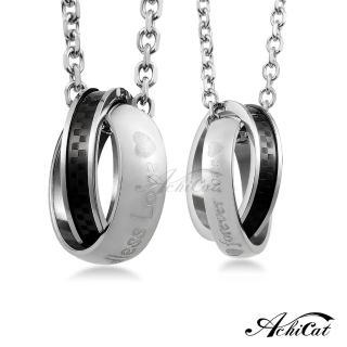 【STEVEN YANG】情侶對鍊 西德鋼項鍊 「格紋風潮」C1336(黑色)