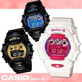 【CASIO 卡西歐 Baby-G 系列】靚亮金屬光_大膽玩色豔彩女錶(BG-1006SA)