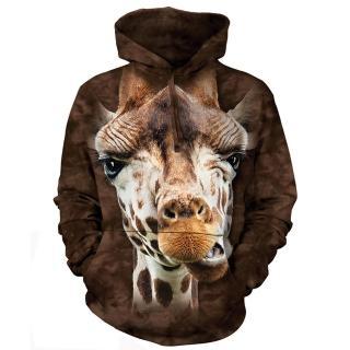 【摩達客】美國進口The Mountain 長頸鹿 長袖連帽T恤(現貨)