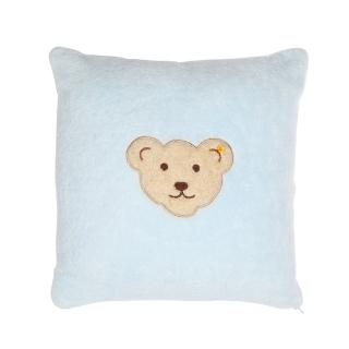 【STEIFF德國金耳釦泰迪熊】嬰幼兒 枕頭 靠枕 水藍色(枕頭/被類)