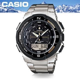 【CASIO 卡西歐 SPORTS 系列】多功能登山雙顯運動錶(SGW-500HD)