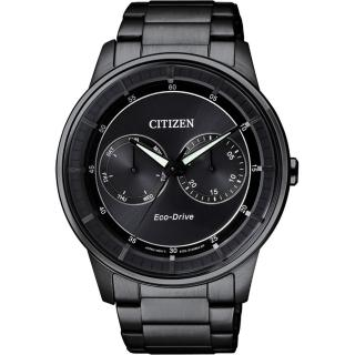 【CITIZEN】Eco-Drive 率性爵士風格腕錶-IP黑/42mm(BU4005-56H)