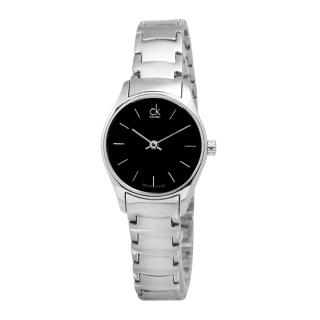 【Calvin Klein】Classic‧紐約前衛時尚不鏽鋼腕錶_黑面/小(K4D23141)