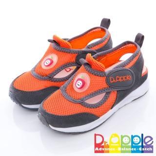 【Dr. Apple 機能童鞋】雙色拼接輕量透氣童鞋(灰)