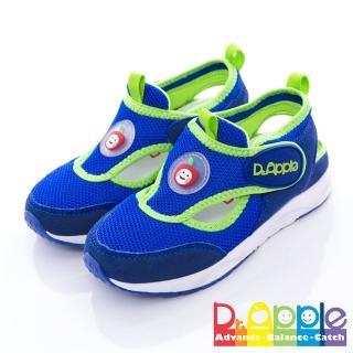 【Dr. Apple 機能童鞋】雙色拼接輕量透氣童鞋(藍)