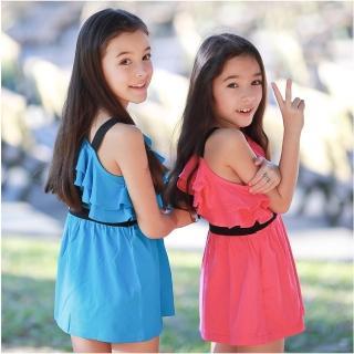 【baby童衣】雜誌女孩款斜肩洋裝 42151(共四色)
