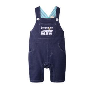 【BABY童衣】寶寶連身衣 嬰幼兒仿牛仔背帶褲42061