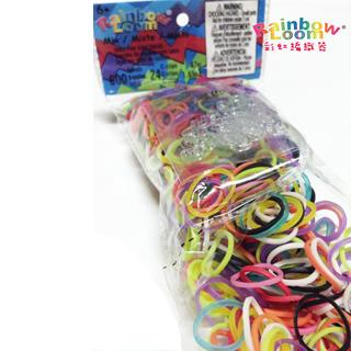 【BabyTiger虎兒寶】Rainbow Loom 彩虹圈圈補充包4入-顏色可選(DIY 編織 手環  彩虹圈圈)