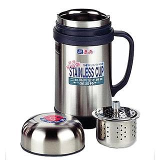 【小蟻布比】樂奇二層高真空不銹鋼保溫杯-0.6L×2入(附茶葉網)