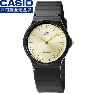 【CASIO】日系卡西歐薄型石英錶-金(MQ-24-9E)