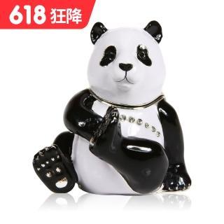 【三卡寶精品】熊貓玩耍晶鑽(珠寶盒)