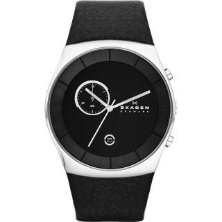 【SKAGEN】經典系列 都會紳士計時腕錶-黑/42mm(SKW6070)
