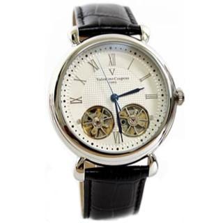 【Valentino范倫鐵諾】雙擺輪雙發條自動上鍊機械錶 總裁手錶 原廠公司貨(玖飾時咚E336)