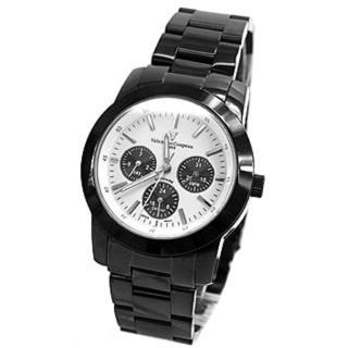 【Valentino范倫鐵諾】范倫鐵諾真三眼設計手錶-時尚藍寶石鏡面(玖飾時尚NE280)
