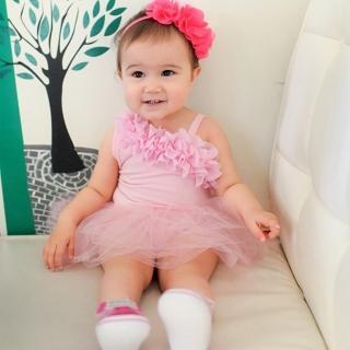 【baby童衣】甜美公主紗紗裙連身衣 32141(粉)