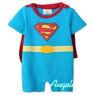 【baby童衣】超人披風造型短袖連身衣 32002