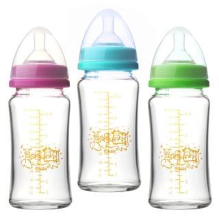 【貝喜力克】防脹氣高耐熱寬口徑玻璃奶瓶 240ml