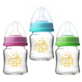 【貝喜力克】防脹氣高耐熱寬口徑玻璃奶瓶120ml