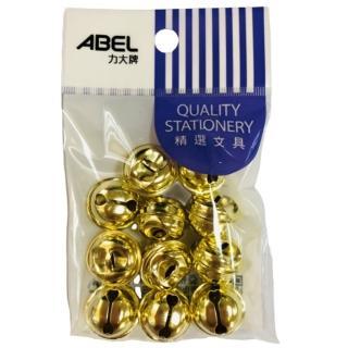 【ABEL力大牌】18mm金色鈴鐺opp袋-11入(5分)