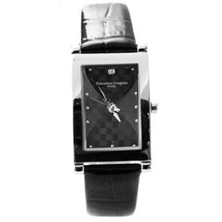 【Valentino范倫鐵諾】切割美學經典格紋皮革手錶腕錶對錶(玖飾時尚NE1056)