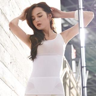 【曼黛瑪璉】羽涼級‧輕鬆塑  中機能防胃凸背心(牙白)